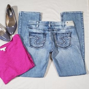 Silver Suki High Baby Boot Jeans Size W30 L33